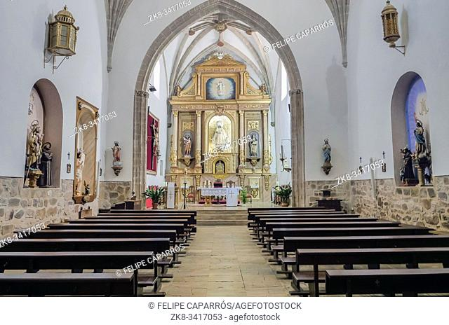 Interior of the church of Nuestra Señora de la Asunción, High Altar, located next to the Palace of the Marqués de Santa Cruz, Archive of the Navy