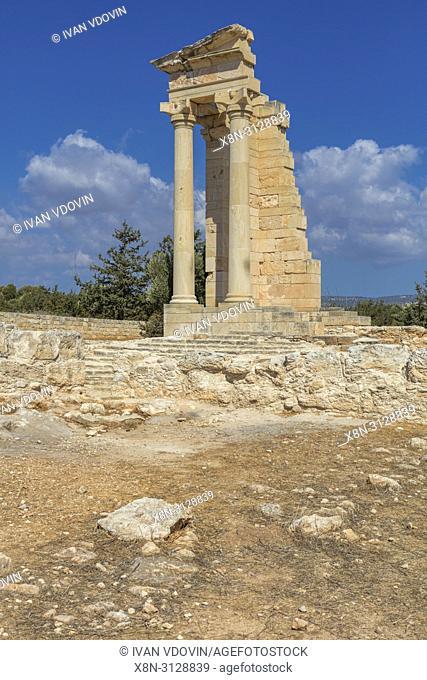 Temple of Apollo Hylates, ancient Greek city Kourion, near Limassol, Cyprus