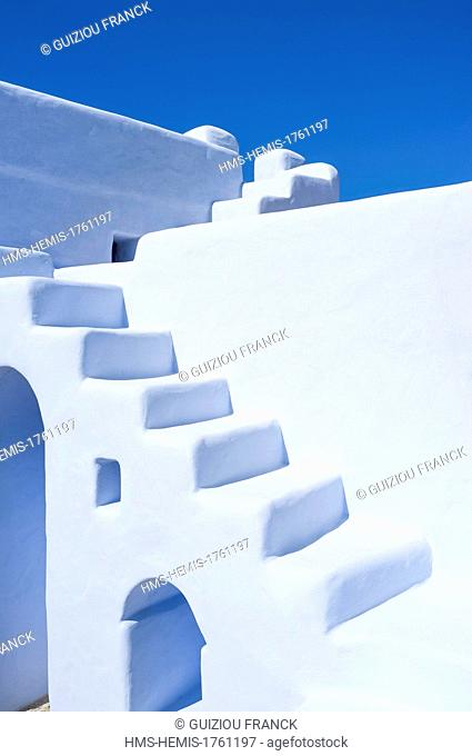 Greece, Cyclades islands, Small Cyclades, Koufonissia island, the accomodation Gitonia tis Irinis
