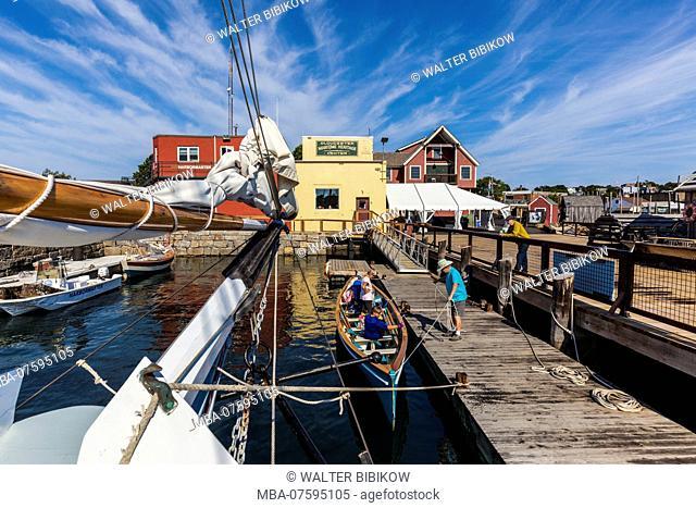 USA, New England, Cape Ann, Massachusetts, Gloucester, Gloucester Schooner Festival, Maritime Center Pier