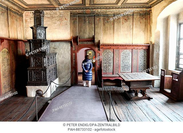 The restored Luther room at the Lutherhaus in Wittenberg, Germany, 5 March 2017. Photo: Peter Endig/dpa-Zentralbild/dpa   usage worldwide