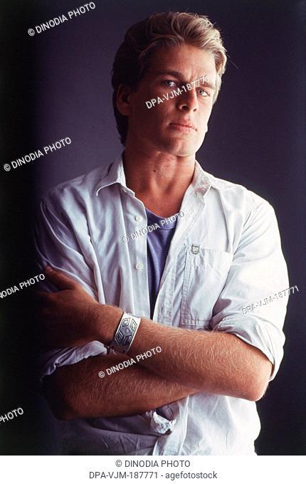 1989, Portrait Of Indian film actor and model Karan Kapoor