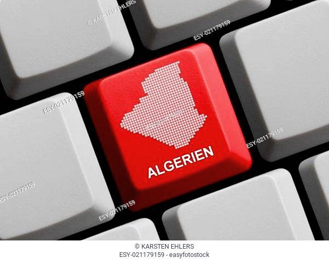 Algerien - Umriss auf Tastatur