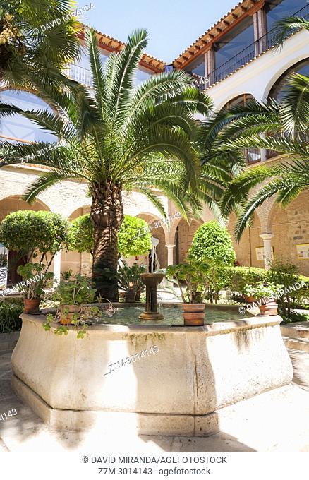 Patio del Hospital de San Juan de Dios. City of Jaen. Andalusia. Spain