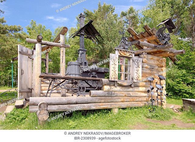 Fairy tale house, Irkutsk Architectural and Ethnographic Museum Taltsy, settlement of Talzy, Irkutsk region, Baikal, Siberia, Russian Federation, Eurasia