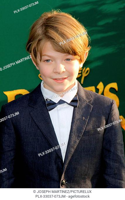 Oakes Fegley at the World Premiere of Disney's Pete's Dragon held at El Capitan Theater in Hollywood, CA, August 8, 2016