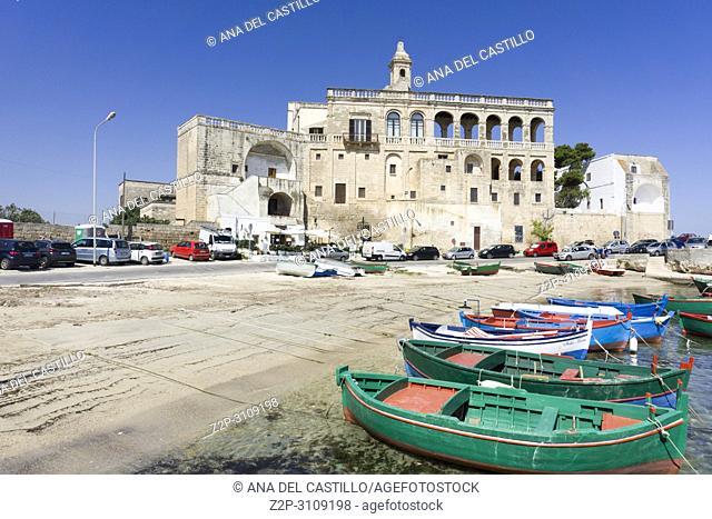 Benedictine abbey of San Vito Polignano a Mare Puglia, Italy.