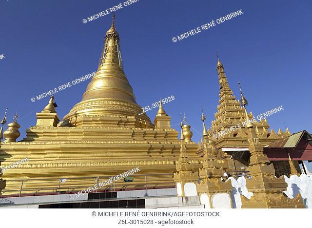 Kuthodaw Pagoda in Mandalay Myanmar