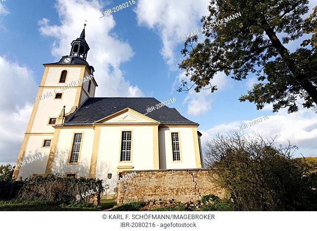 Castle church of St. Trinitas, Schloss Molsdorf Palace near Erfurt, Thuringia, Germany, Europe