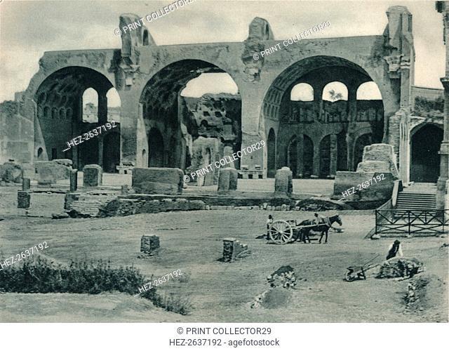 Basilica of Maxentius and Constantine in the Forum Romanum, Rome, Italy, 1927. Artist: Eugen Poppel