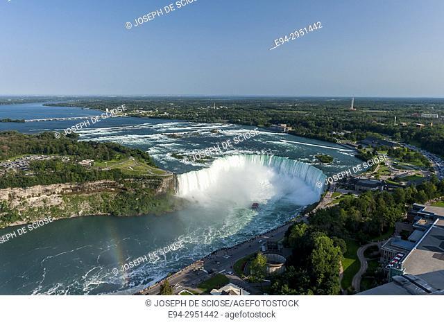 View from the Skylon Tower at Niagara Falls, Ontario, Canada