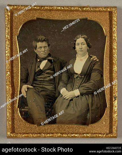 Untitled [portrait of a man and woman], 1839/60. Creator: Unknown