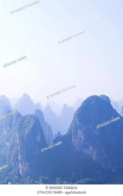 Karst peaks of Xingping, Xingping, Yangshuo, Guilin, Guanxi, PRC