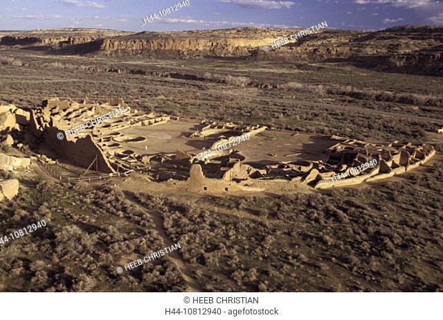 View, Pueblo Bonito, Chaco Culture, National Historical Park, New Mexico, USA, America, North America, village, abando