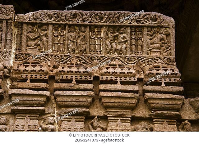 Carving details, Gondeshwar Temple, Sinnar, near Nashik, Maharashtra, India
