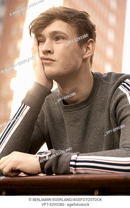young emotive model man, in Hamburg, Germany