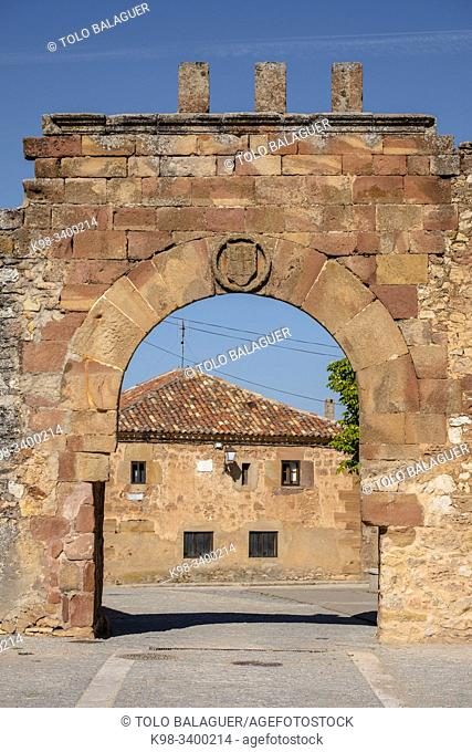 arco de arriba - puerta de oriente, Conjunto medieval amurallado, Retortillo de Soria, Soria, comunidad autónoma de Castilla y León, Spain, Europe