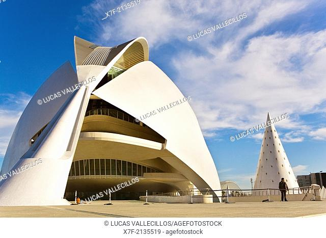 Palacio de las Artes Reina Sofía,City of Arts and Sciences by S. Calatrava. Valencia. Spain