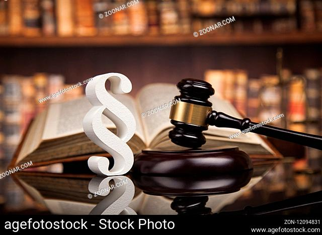 Court gavel, Law theme, mallet of justice, Paragraph, mirror background