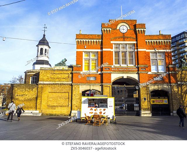 The Royal Arsenal Gatehouse in Woolwich - Southeast London, England