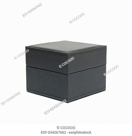 Black box isolated on white