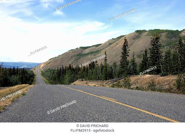 Open Road near Faro, Yukon