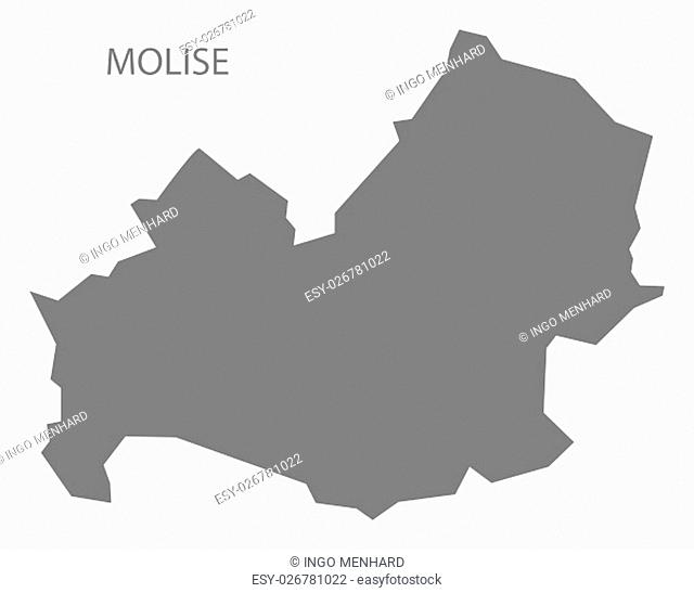Molise Italy Map in grey
