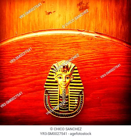 A head of a pharaoh decorates El Sheik Arab restaurant in Coyoacan, Mexico City, Mexico