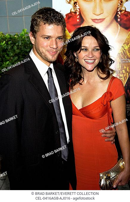 Reese Witherspoon and husband Ryan Phillippe at the premiere of VANITY FAIR at the Clearview Theater on August 16, 2004 in New York