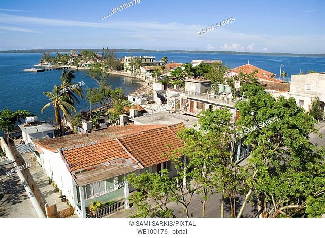 Cienfuegos Bay seen from the Palacio del Valle on Punta Gorda, Cienfuegos, Cuba