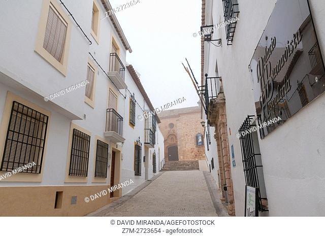 Traditional architecture, Belmonte, Cuenca province, Castile la Mancha, Spain. Historic and Artistic Heritage