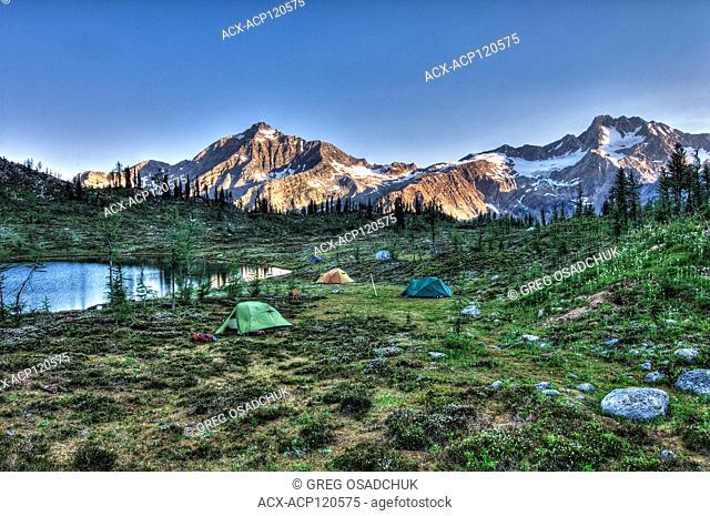 Alpine camping Edouard Pass, West Kootenays