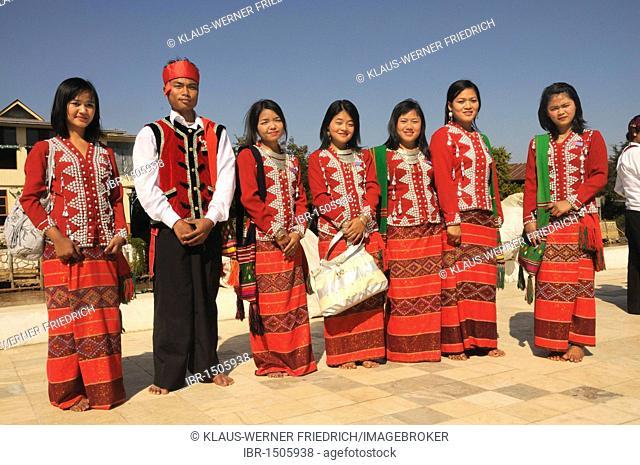 Chin, ethnic minority in traditional costume, Myanmar, Burma, Southeast Asia, Asia