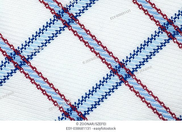 Checked cloth texture close up