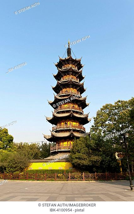 Bell tower of the Longhua Pagoda, Longhua Temple, Shanghai, China