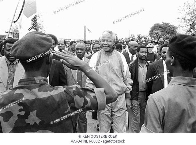 Nelson Mandela, 1993 mandela archive soldier salute's