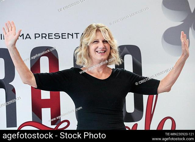 Angela Finocchiaro during the photocall, Rome, ITALY-23-06-2020