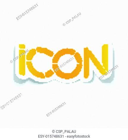 realistic design element: icon