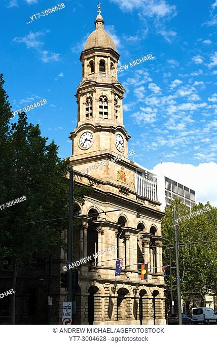 The Adelaide town hall in Adelaide, the capital city of South Australia