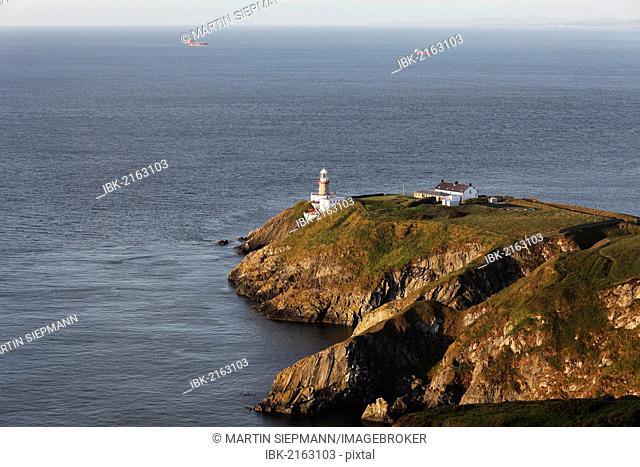 Baily Lighthouse on Howth Peninsula near Dublin, County Fingal, Leinster, Ireland, Europe, PublicGround