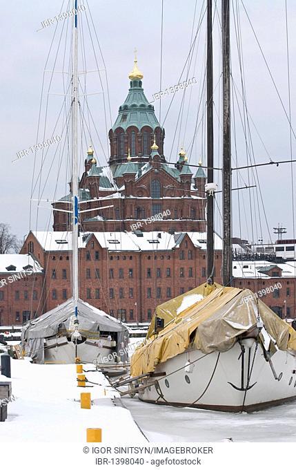 Uspenski orthodox cathedral in Helsinki, Finland, Europe