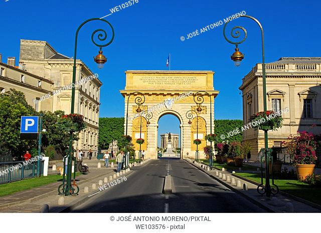 Triumphal Arch, Montpellier, Herault, Languedoc-Roussillon, France