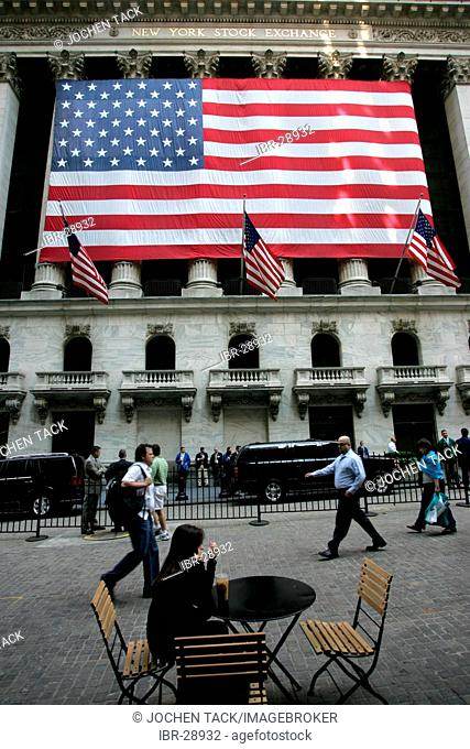 USA, United States of America, New York City: Financial District, Wall Street. New York Stock Exchange