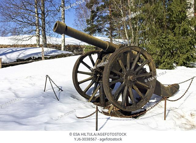 memorial cannon at Kärnäkoski fortress, Savitaipale Finland