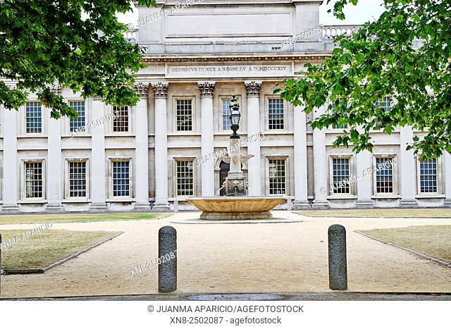 Greenwich Park, Royal College of navy, maritime museum. Greenwich, London, UK