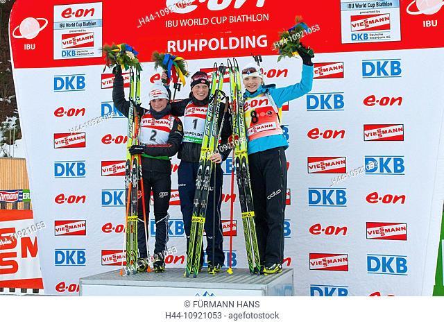Bavaria, Upper Bavaria, Ruhpolding, sport, biathlon, world cup, winter, winter sports, biathlon center, ski, cross-country skiing, winner's podium, stage