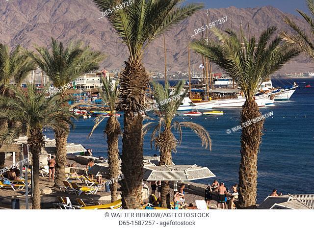 Israel, The Negev, Eilat, Red Sea beachfront
