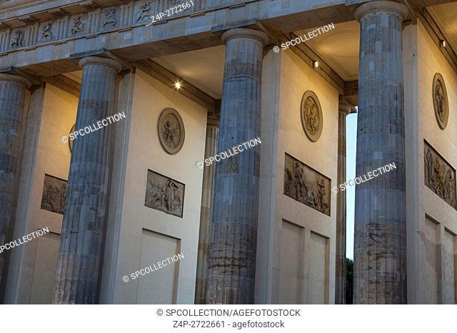Columns of Brandenburger gate in Berlin