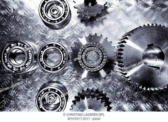 Gears and clogs, close up