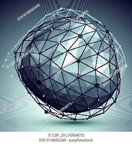 3D mesh modern stylish abstract bac
